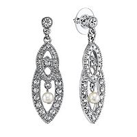 1928 Marquise Drop Earrings