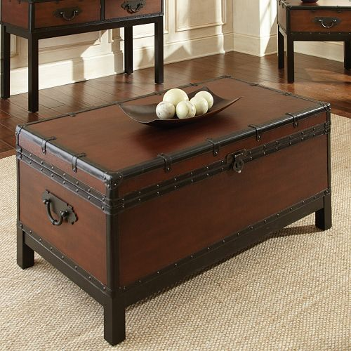 Kohl S Foyer Table : Voyage trunk coffee table
