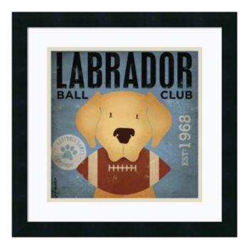 ''Labrador Ball Club'' Framed Art Print by Stephen Fowler