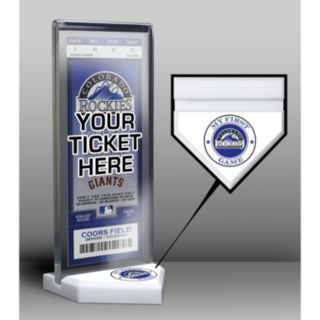 Colorado Rockies Home Plate Ticket Display Stand