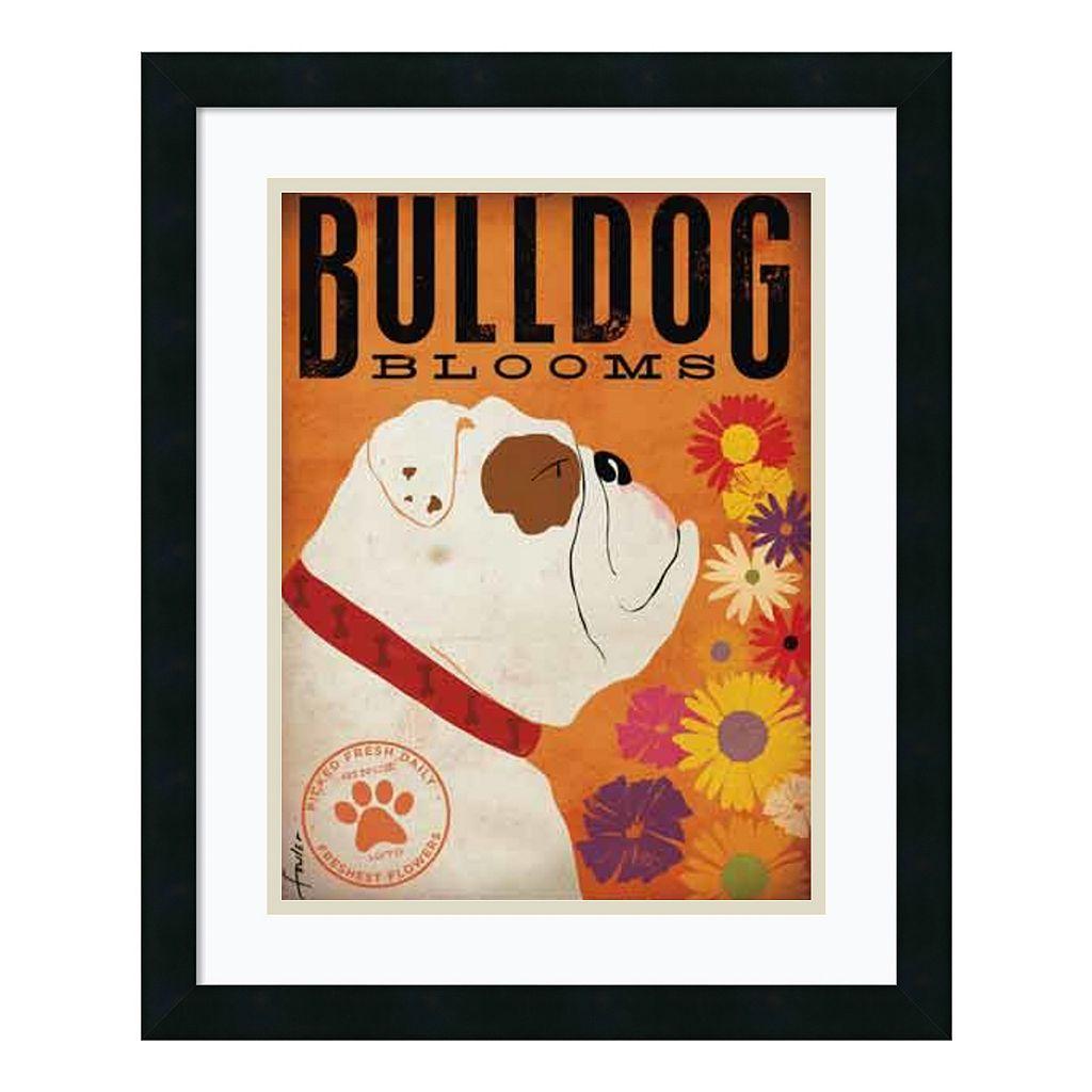 ''Bulldog Blooms'' Framed Art Print by Stephen Fowler