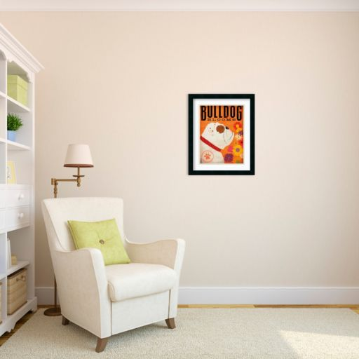 ''Bulldog Blooms'' Framed Art Print by Stephen Fowler