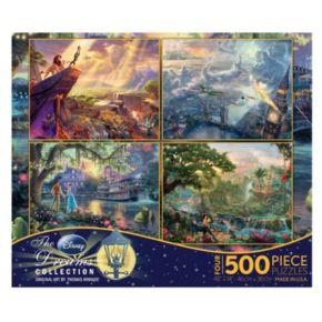 Disney Thomas Kinkade 4-pk. 500-pc. Disney Dreams Puzzles