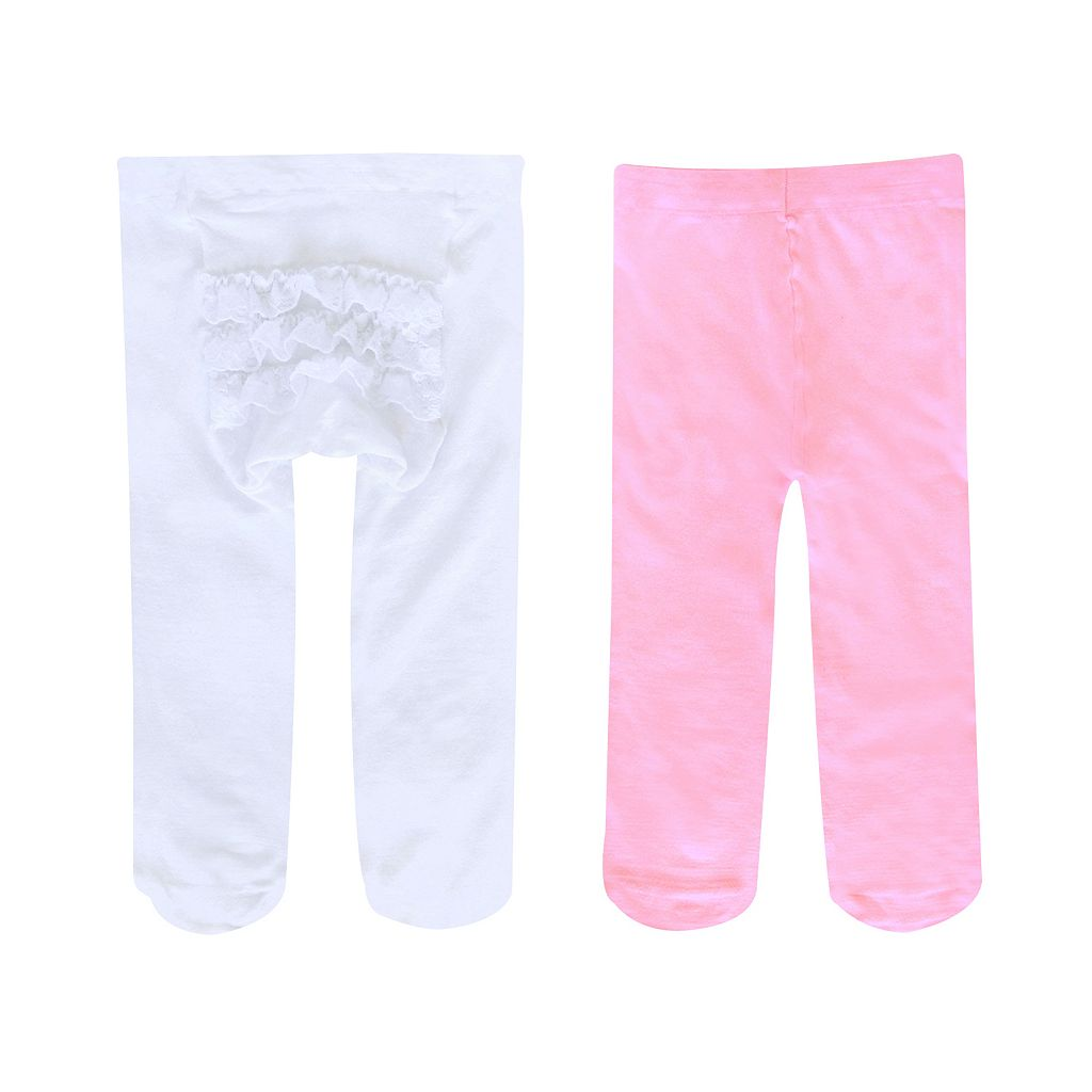 Baby Jumping Beans® 2-pk. Rhumba Lace-Trim Tights