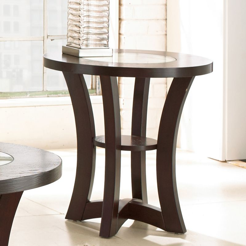 Alice End Table, Brown