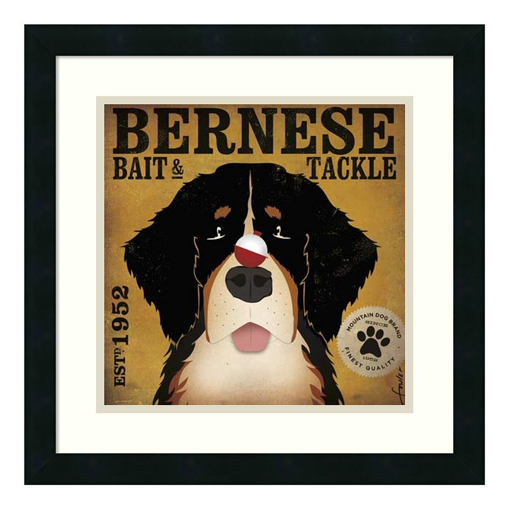 'Bernese Bait & Tackle'' Framed Art Print by Stephen Fowler