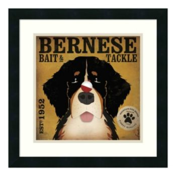 'Bernese Bait and Tackle'' Framed Art Print by Stephen Fowler