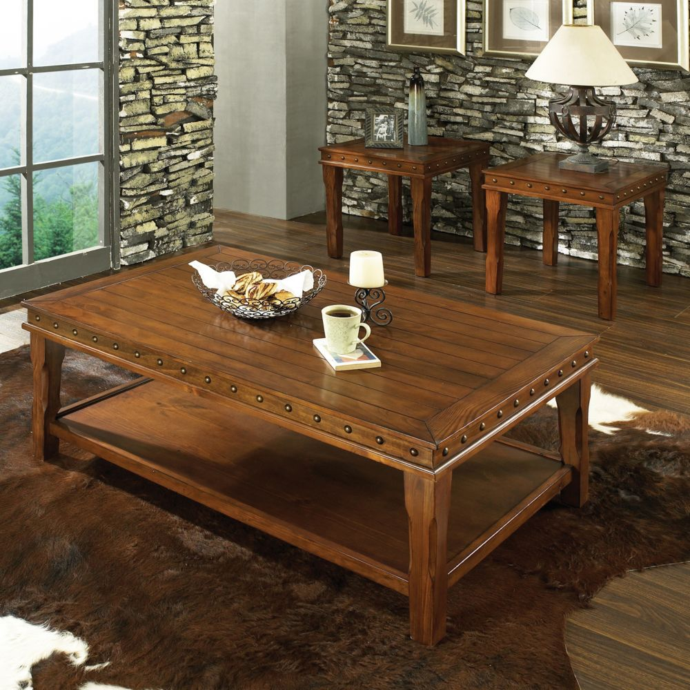 Living Room 3 Piece Table Sets 3-piece coffee & end table set