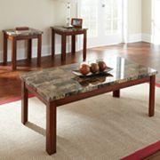 Montibello 3 pc Coffee & End Table Set