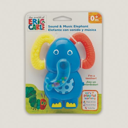 Eric Carle Elephant Teething Elephant Rattle Toy by Kids Preferred
