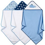 Just Born 3-pk. Whale Hooded Towels