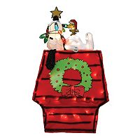 Peanuts Snoopy on Doghouse 26-in. Pre-Lit Christmas Decor - Indoor & Outdoor