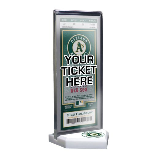 Oakland Athletics Home Plate Ticket Display Stand