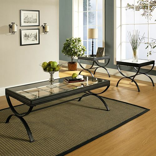 Emerson 3 piece coffee end table set for Table design using jsp