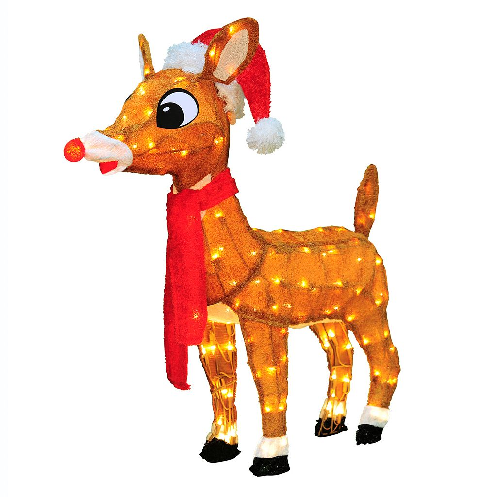 Rudolph 32-in. Pre-Lit Christmas Decor - Indoor & Outdoor