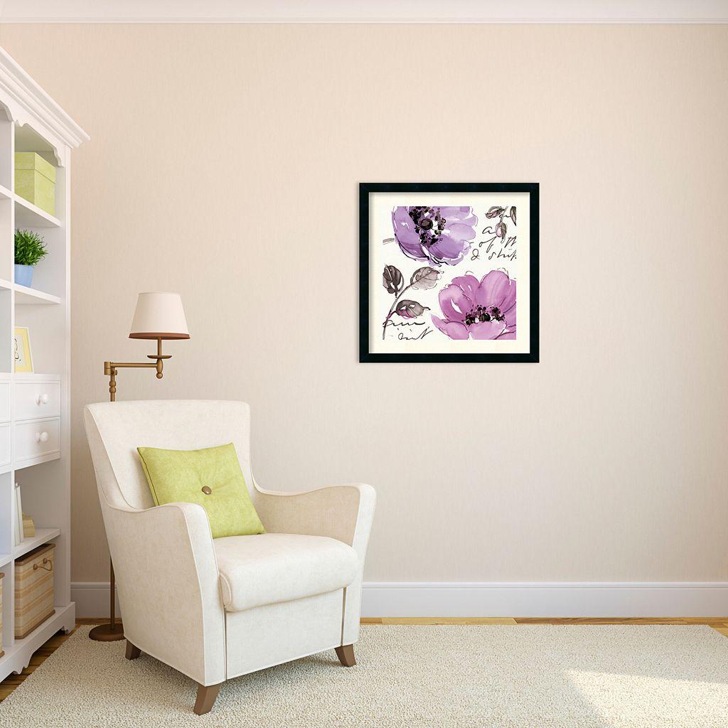 ''Floral Waltz Plum II'' Framed Art Print