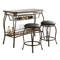 Greensboro 3-piece Bar Table & Stool Set