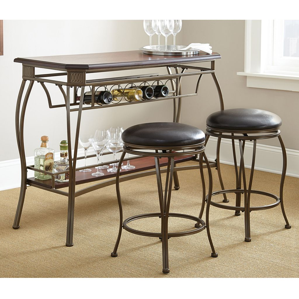 Greensboro 3-piece Bar Table and Stool Set