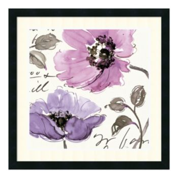 ''Floral Waltz Plum I'' Framed Art Print