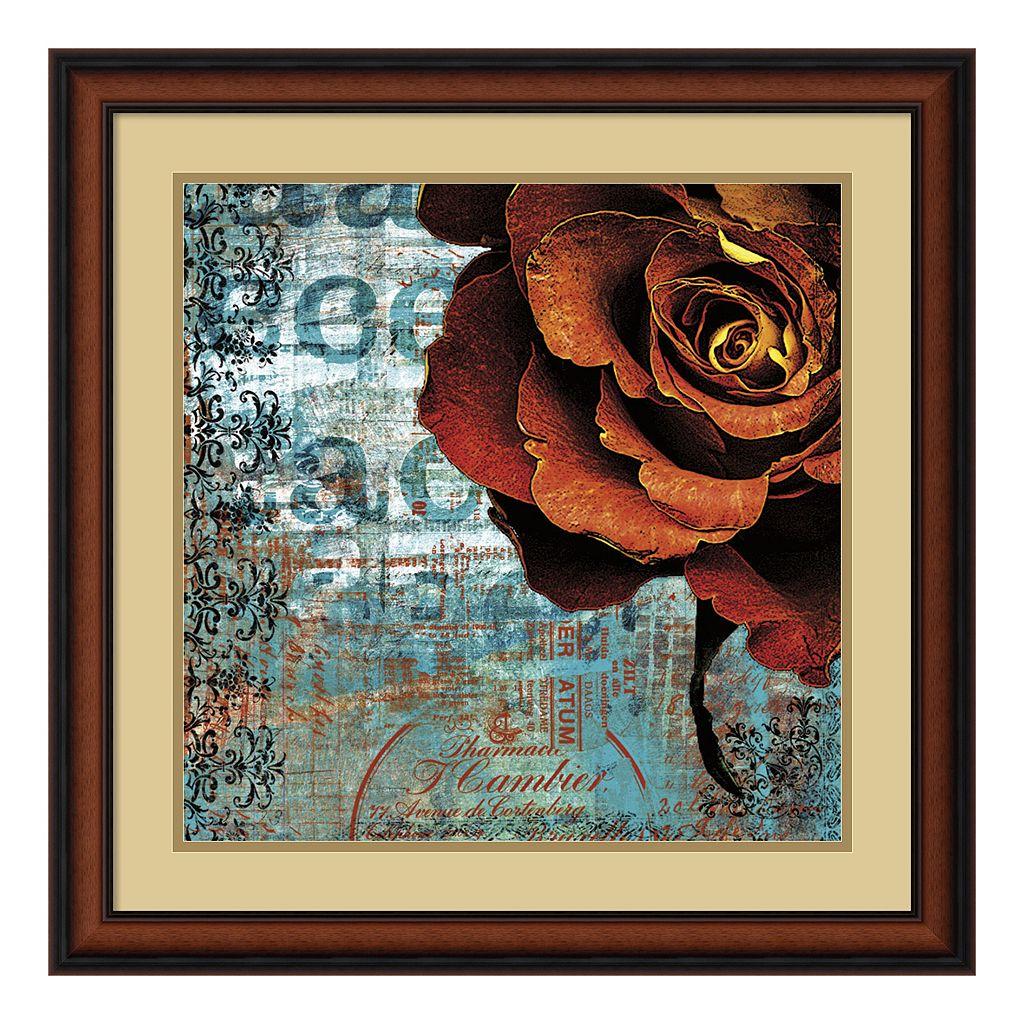 ''Graffiti Rose'' Framed Art Print by Christina Lazar Schuler