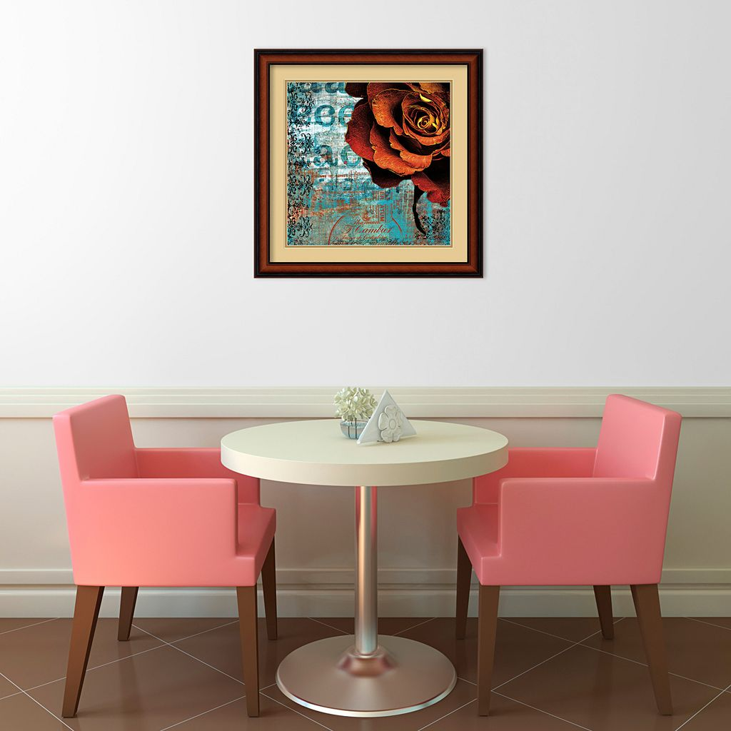 ''Graffiti Rose'' Framed Art Print by Christina Lazar Schuler