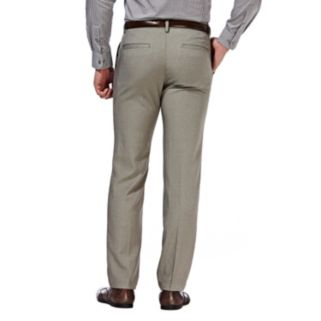 Men's Haggar® Slim-Fit Performance Microfiber Flat-Front Slacks