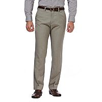 Men's Haggar® Slim-Fit Performance Microfiber Flat-Front Slacks
