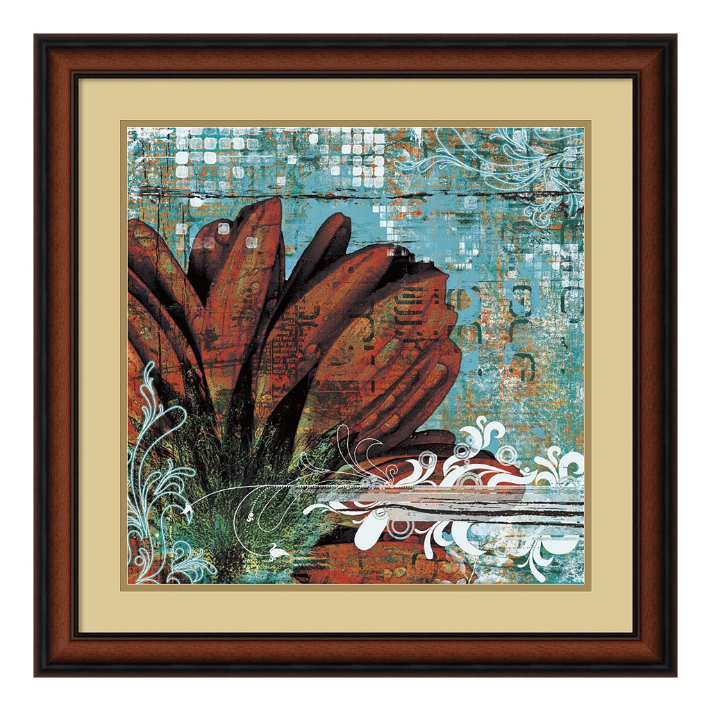 ''Graffiti Gerbera'' Framed Art Print by Christina Lazar Schuler