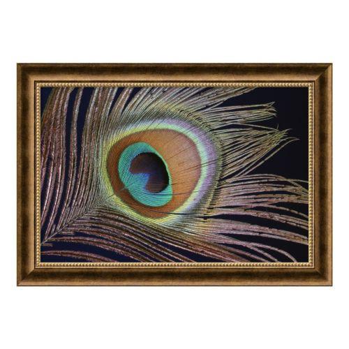 """Sumptuous"" Peacock Framed Art Print"