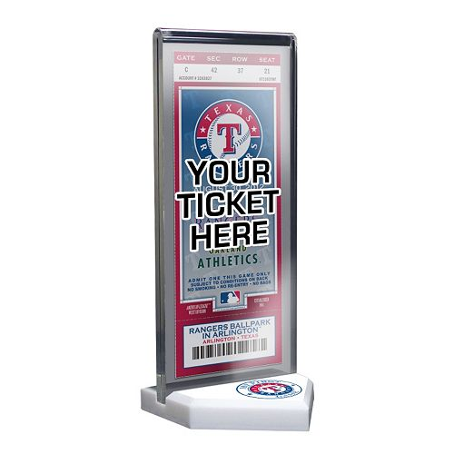 Texas Rangers Home Plate Ticket Display Stand