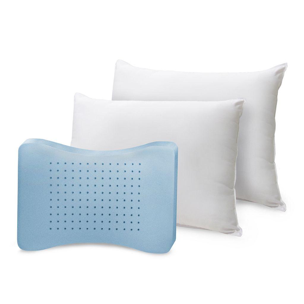 SensorPEDIC Memory Loft Classic 2-pk. Memory Foam & Fiber Pillows