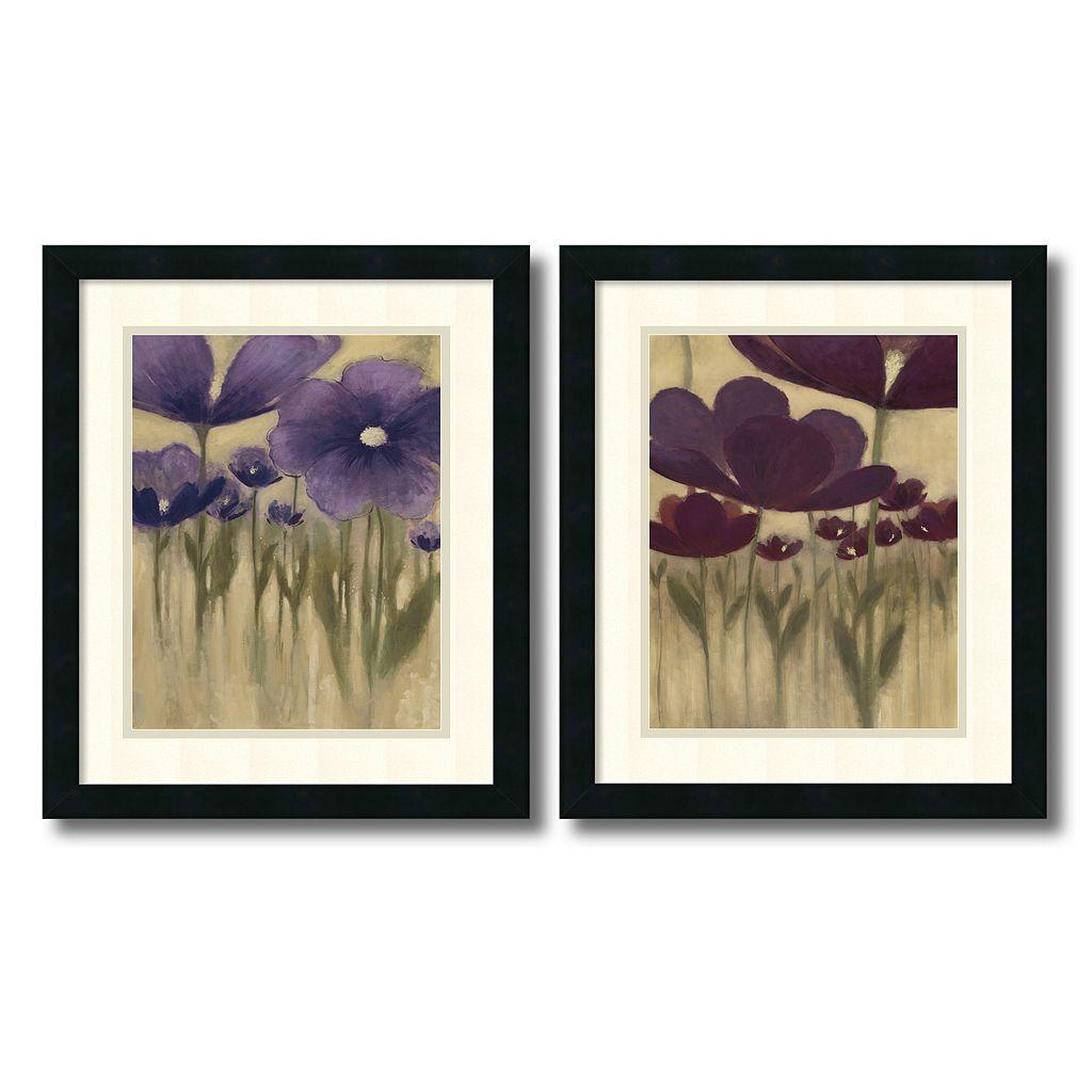 ''Summer Blooms'' 2-Piece Framed Art Print Set by Vittorio Maria