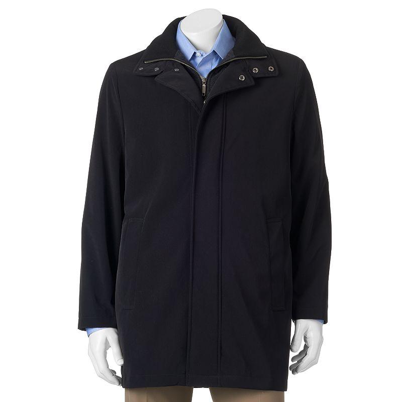 Men's Chaps Classic-Fit Black Wool-Blend Top Coat