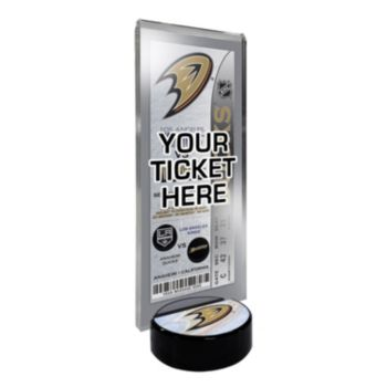 Anaheim Ducks Hockey Puck Ticket Display Stand