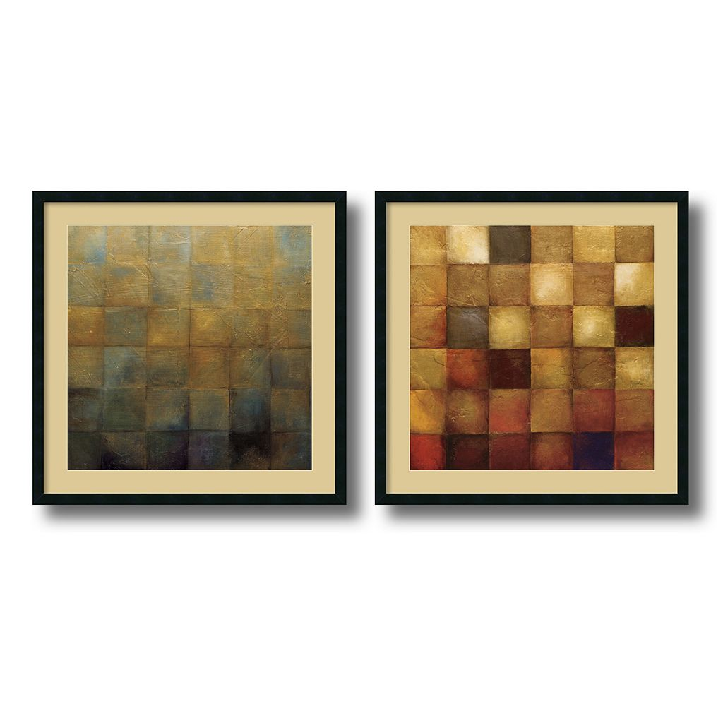 'Modra & Cerveny'' 2- Piece Framed Art Print Set by Wani Pasion