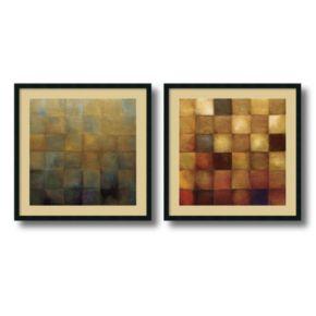 'Modra and Cerveny'' 2- Piece Framed Art Print Set by Wani Pasion