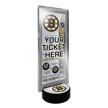 Boston Bruins Hockey Puck Ticket Display Stand