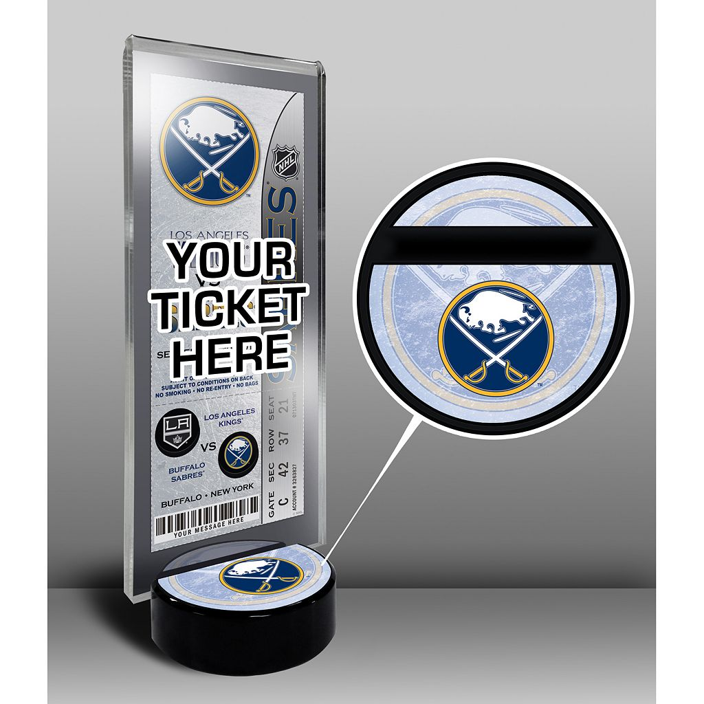 Buffalo Sabres Hockey Puck Ticket Display Stand