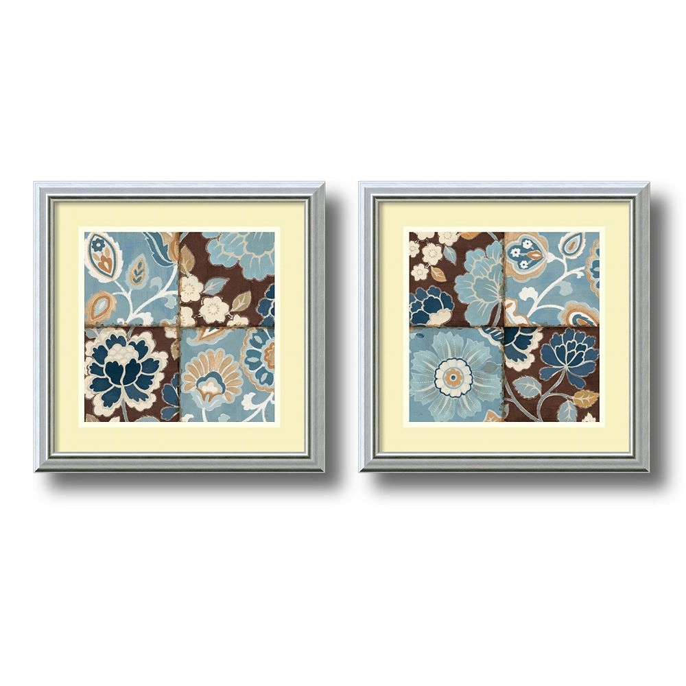 ''Patchwork Motif'' 2-Piece Framed Art Print Set by Alain Pelletier
