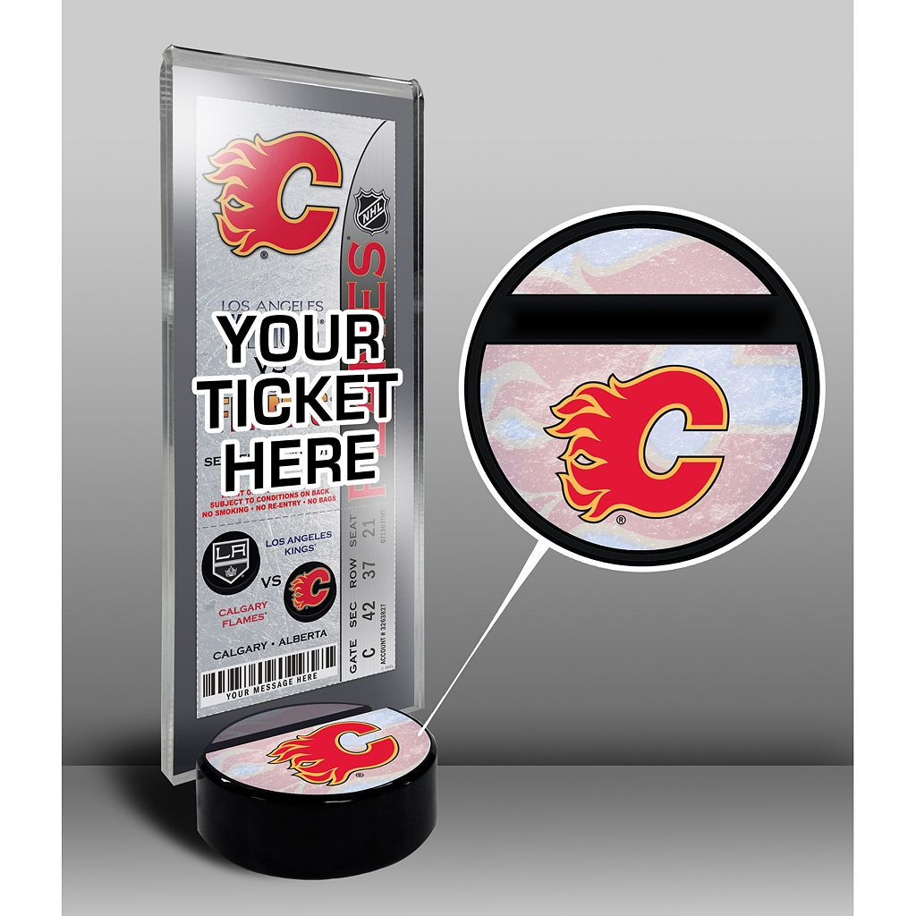 Calgary Flames Hockey Puck Ticket Display Stand
