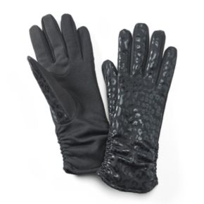 Apt. 9® Leopard Ruched Tech Gloves