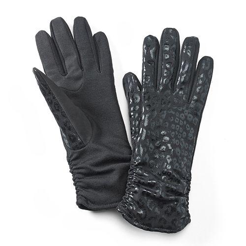 Apt. 9® Leopard Ruched Tech Gloves