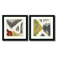 'Vibrant & Vivid'' 2 pc Framed Art Print Set by Rita Vindedzis