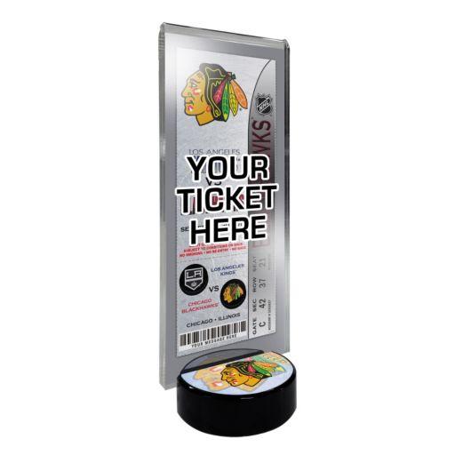 Chicago Blackhawks Hockey Puck Ticket Display Stand