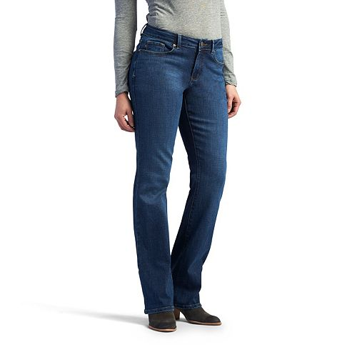 21b7a6f9dfbcb Women s Lee No Gap Waistband Curvy Fit Bootcut Jeans