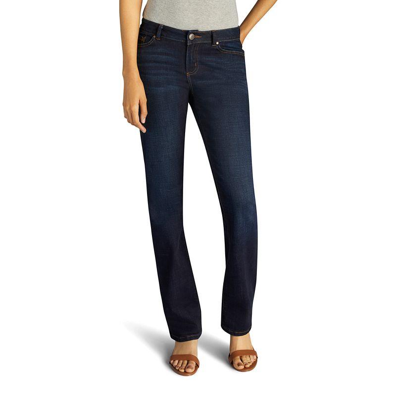 Women's Lee No Gap Waistband Regular Fit Bootcut Jeans, Size: 4 - regular, Dark Blue
