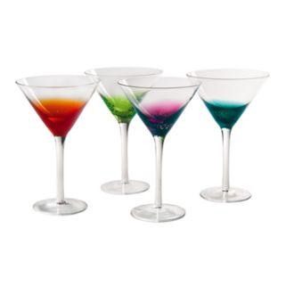 Artland Fizzy 4-pc. Martini Glass Set