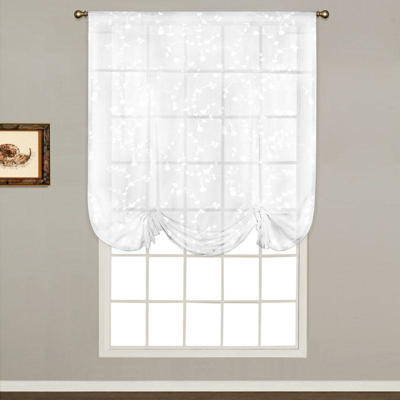 Lorraine Home Fashions Jackson 58 Inch X 24 Inch Tier Curtain Pair White