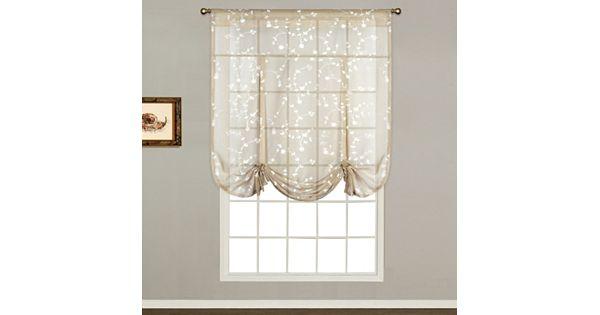 United Curtain Co Savannah Tie Up Shade 40 X 63