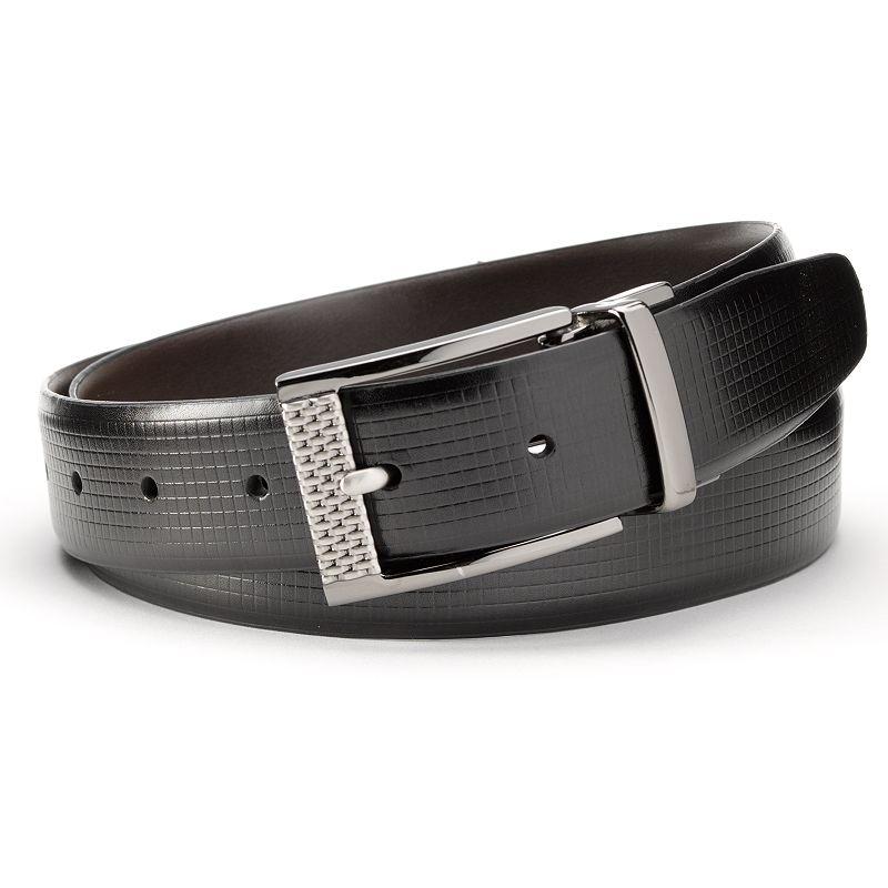 Grand Slam Textured Reversible Golf Belt - Men, Size: 30 (Black)
